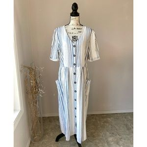 Chelsea and Theodore NWT Linen Maxi Dress XL